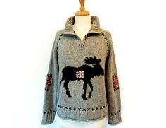 Your place to buy and sell all things handmade Hand Knitted Sweaters, Collar And Cuff, Hand Knitting, Fashion Models, What To Wear, Christmas Moose, Girly, Jellyfish, My Style