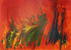 Abstract Painting, Fluid Pouring Technique, Acrylic, Abstrakte Malerei, ...