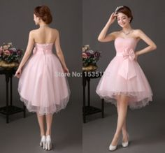 Online Shop Sexy Vestidos Costume 2015 Graduation Dresses Prom Gowns Knee Length Ball Gown Pink Dress Short Cheap Formal Designer Riva tb8|Aliexpress Mobile