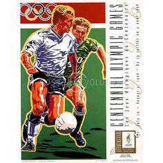 Hiro Yamagata Olympic Soccer 1996 Atlanta Official Sports Poster Print 18x24