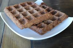 My suggestion is to make a triple batch of these and keep in your freezer for an easy breakfast. Just pop one in the toaster like you would the chemical-filled Eggo Waffle. TIP: Make sure your waffle iron is hot hot hot before adding any batter or it will stick.