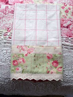 Luxury guest tea towel for a shabby chic kitchen!
