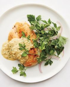 Sauteed Chicken in Mustard and Herb Sauce Recipe