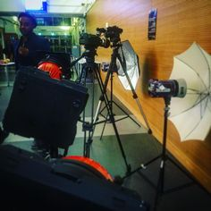 Production looking nice at @astepfwd chart launch #canon #Sony #cameras #London #southbank