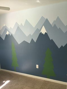 Minus the trees and snow caps. Use different shades of gray instead of blue.
