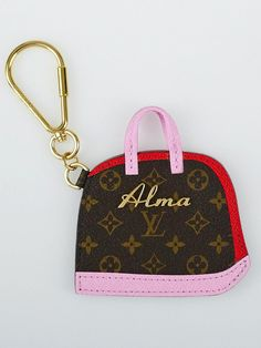 Louis Vuitton Monogram Canvas BB Sacs Alma Key Holder and Bag Charm