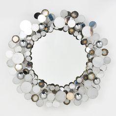 Large Curtis Jere 'Raindrops' Mirror