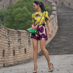 View on top --hello from the Great Wall! New post on http://petiteflowerpresents.com/ Cute combo!