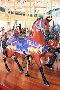 Nunley's Carousel at Museum Row, Garden City, NY: Wooden Carousel Horse at Nunley's Carousel