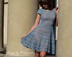Crochet dress PATTERN Boho crochet dress PATTERN by krinichka Mais More