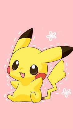 Wallpaper Pikachu 📱 Pokemon - Fond d'écran cellulaire gd. Cute Pokemon Wallpaper, Cute Disney Wallpaper, Kawaii Wallpaper, Cute Cartoon Wallpapers, Wallpaper Iphone Cute, Wallpaper Samsung, Pikachu Pikachu, Pokemon Mew, Play Pokemon
