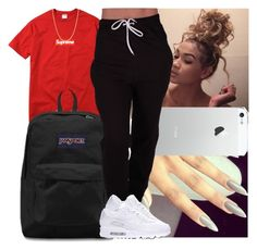 """""""Casual Sunday"""" by msixo ❤ liked on Polyvore featuring Champion and JanSport"""