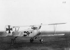 Nieuport 17 single-seat fighter biplane. Captured aircraft with German markings  FRENCH AIRCRAFT OF THE FIRST WORLD WAR