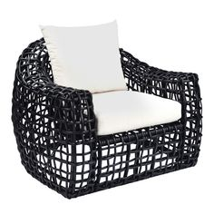 KB - With modern open-weave styling, the Miami collection is high design. Nearly invisible aluminum frames give structure and form to a sophisticated grid of all-weather wicker.