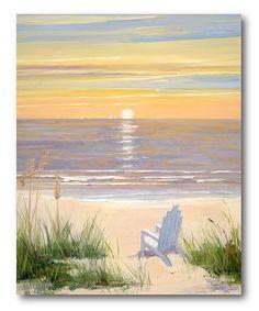 Look at this #zulilyfind! Beach at Sunset II Gallery-Wrapped Canvas #zulilyfinds