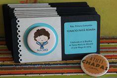 Tarjeta Comunión con imán www.atutichapas.com