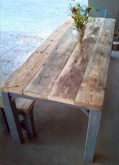 Tisch im Landhaus-Stil aus Bauholz Julian von FraaiBerlin auf Etsy