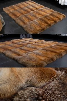 Fur Carpet, Fur Blanket, Carpets, Blankets, Rustic Home Design, Red Tail Fox, Living Room, Farmhouse Rugs, Rugs