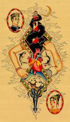 Heart Tattoo design Kyler Martz // I love it!