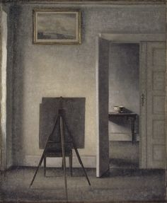 vilhelm hammershøi | Vilhelm Hammershøi (1864 – 1916), was a Danish painter. He is known ...