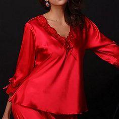Robe de nuit dentelle rouge