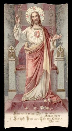 Pictures Of Christ, Jesus Christ Images, Salvator Mundi, Vintage Holy Cards, Christ The King, Mary And Jesus, Heart Of Jesus, Prayer Cards, Sacred Heart