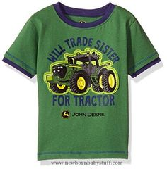 Baby Boy Clothes John Deere Baby Toddler Boys' Graphic Tee, Green/Navy, 2T