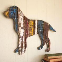 Reclaimed Wood Dog Wall Art. 15% off with coupon