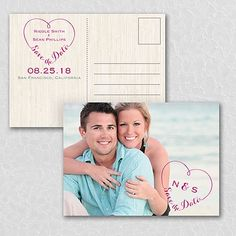 In Our Heart Photo Wedding Save the Date Postcard 40% OFF  |  http://mediaplus.carlsoncraft.com/Wedding/Save-the-Dates/WA-WA32982NFC-In-Our-Heart--Photo-Save-the-Date-Postcard.pro