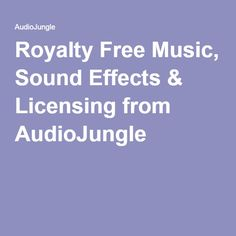 Royalty Free Music, Sound Effects & Licensing from AudioJungle