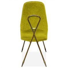 Maxime Dining Chair-Green Velvet