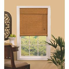 Woven Cane Rattan Roll-up Shade   Overstock.com Shopping - The Best Deals on Blinds & Shades