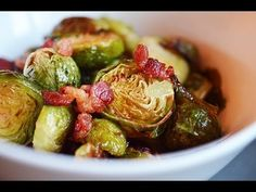 Bacon Roasted Brussels Sprouts Recipe - Laura Vitale - Laura in the Kitchen Episode 687 - YouTube