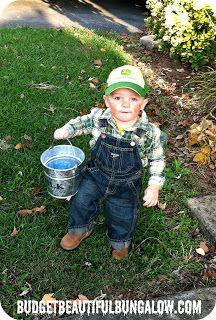 "Economical ""Farmer"" DIY costume-complete with ""milk"" pail!"