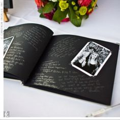 Love this DIY photo guest book!