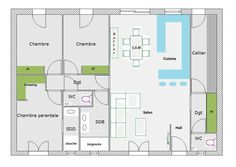Help for planning home plan of m² messages) - Page 2 - ForumCo . Architect Design, Simple House, Feng Shui, Halle, Messages, Beautiful Homes, House Plans, Sweet Home, Floor Plans
