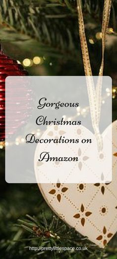 Gorgeous Christmas Decorations on Amazon (1) Amazon Christmas Decorations, Christmas On A Budget, Christmas Crafts, Christmas Ornaments, Holiday Decor, Stress, Free, Xmas Ornaments, Christmas Jewelry