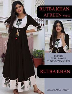Order #Riyon GOWN₹835 on WhatsApp number +919619659727 or ArtistryC.in Suits For Women, Ladies Suits, Latest Kurti, Sharara, One Piece Dress, Types Of Dresses, Indian Wear, Special Occasion Dresses, Hand Embroidery