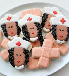 Awesome Nurse Cookies (plus more fun ideas for other 'medical' themed cookies)!!  | Sweet Sugar Belle