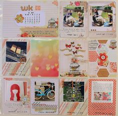 Project Life: Week 22 - just my style..love the hexagon page