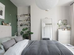 Before and After: the results of my simple, botanical green bedroom makeover – creating a soothing, quiet sanctuary designed around wellbeing Olive Green Bedrooms, Green Rooms, Sage Green Bedroom, Bedroom Inspirations, Home Bedroom, Bedroom Interior, Bedroom Design, Green Bedroom Decor, Bedroom Green