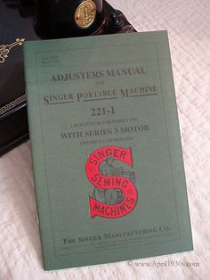 Replica Singer Featherweight 221 Adjusters Service Manual. This manual is an exact replica of those originally provided to the Singer Sewing Machine Technicians. The information it provides is not onl
