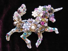 Adiana Unicorn Vintage Jewelry Collage