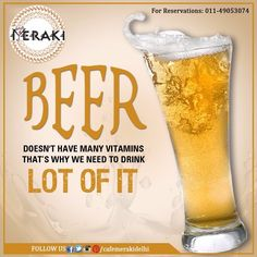 We have a lot many reasons to drink Beer! Let's get healthy together, join us for drinks tonight. #beer #drinkup