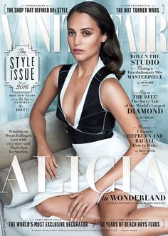 Jason Bourne superstar Alicia Vikander takes the cover of American Vanity Fair's September 2016 edition captured by fashion photographer Mario Testino Alicia Vikander, Mario Testino, Craig Mcdean, Jason Bourne, David Sims, Lindbergh, Serena Williams, Michael Fassbender, Marie Claire