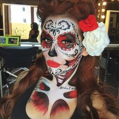 Retro Pinup Skeleton - Celebrate Day of the Dead With These Sugar Skull Makeup Ideas - Photos