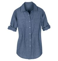 Chambray Chic Top in Misses