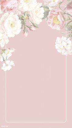 Floral Pattern Design - Trend Topic For You 2020 Framed Wallpaper, Flower Background Wallpaper, Cute Wallpaper Backgrounds, Flower Backgrounds, Background Patterns, Cute Wallpapers, Frame Background, Pink Wallpaper Floral, Watercolor Background