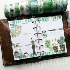Hello week 7 😊🌿🍃 I'm in mood for spring, so give me aaaaall the green washi 💚💚💚 Harry Potter Planner, Harry Potter Journal, Harry Potter Diy, Tandem, Bullet Journal Notebook, Bullet Journals, Happy Jar, Diy Calendar, Planner Layout