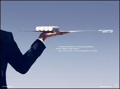 Affiche publicité Air France Plateau